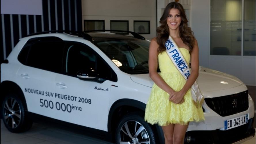 Peugeot 2008 festeggia il 500.000 esemplare con Miss Francia