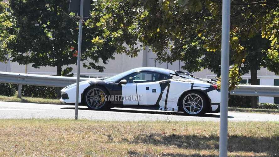 Ferrari V6 hybrid test mule new spy photos