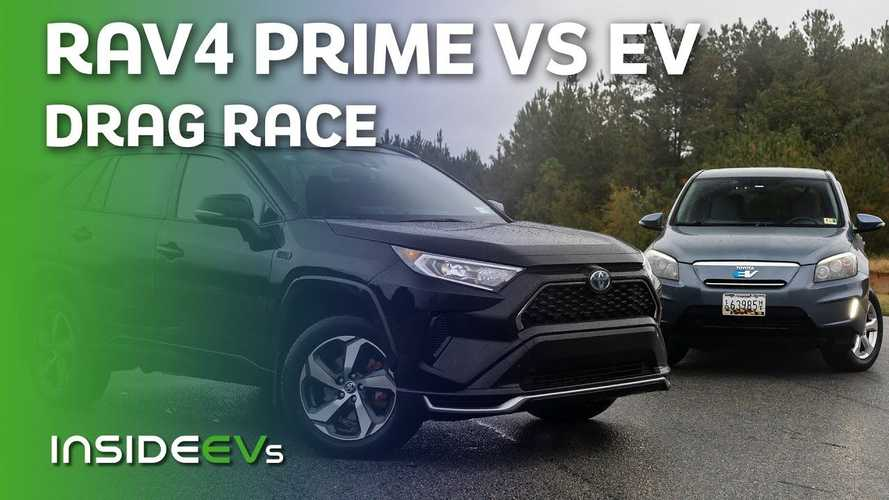 Can This Old Tesla-Powered Toyota RAV4 EV Beat The New PHEV RAV4 Prime?