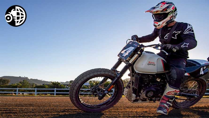 Royal Enfield Flat Tracker Johnny Lewis Teaches Us How To Slide