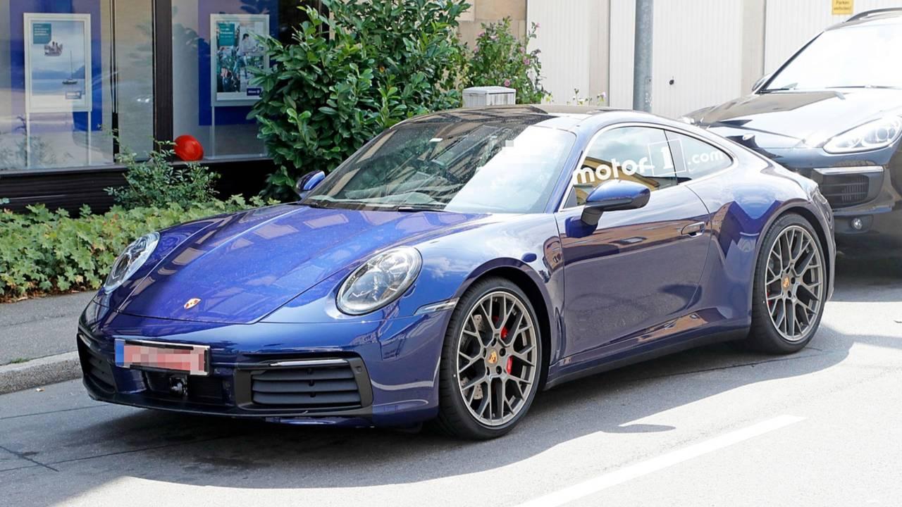 2019 Porsche 911 spied uncovered