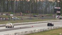 Dodge Challenger Hellcat Widebody Drag Racing