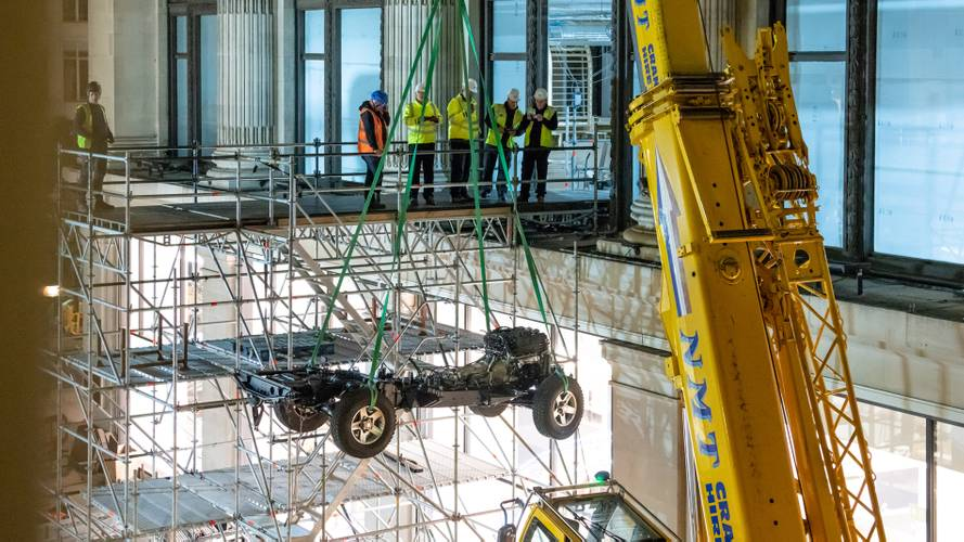 Land Rover builds one-off Defender in London department store