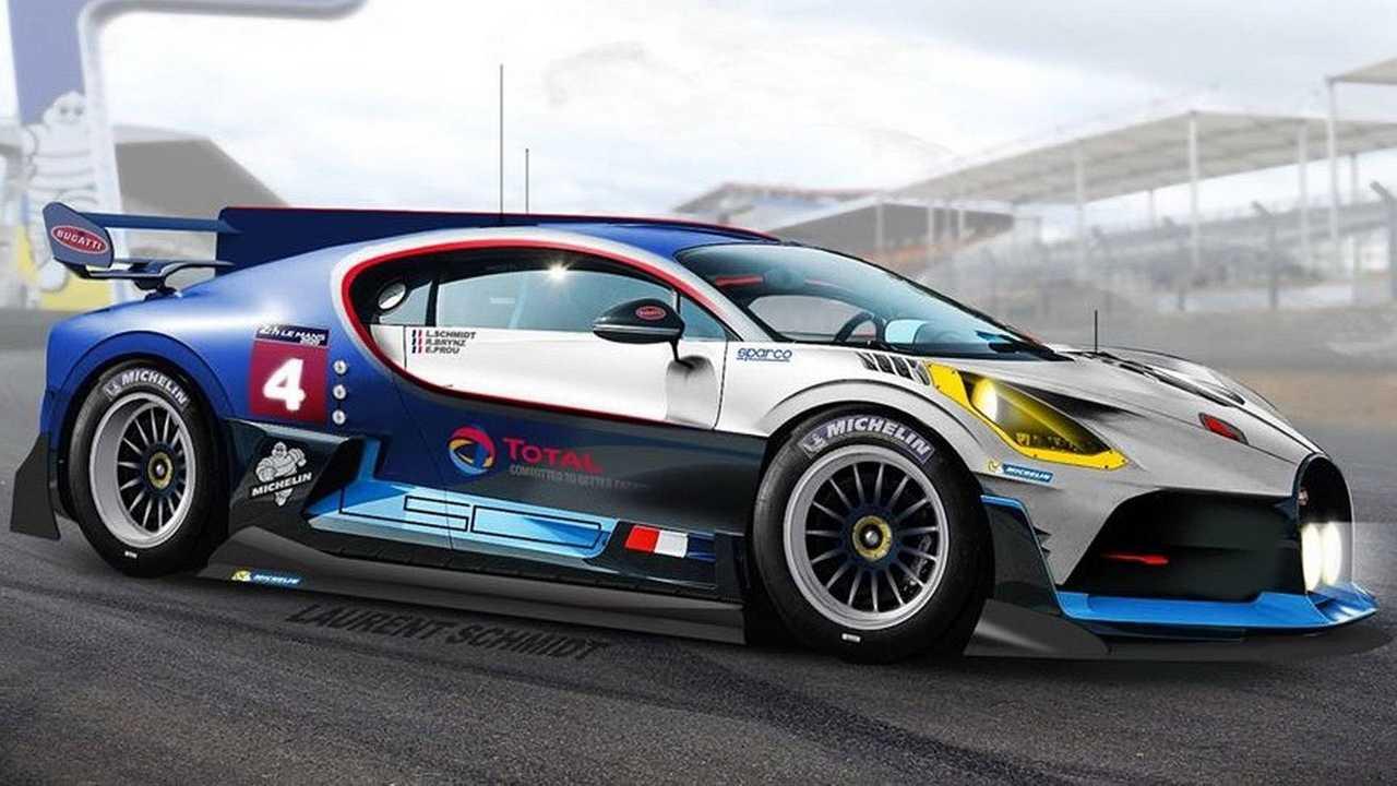 Bugatti Divo Le Mans prototype render