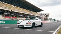 Paul Stephens Le Mans Classic Clubsport grid handover