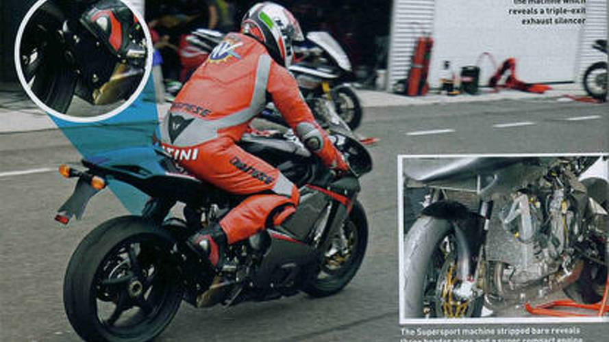 MV Agusta F3 spied with three exhausts
