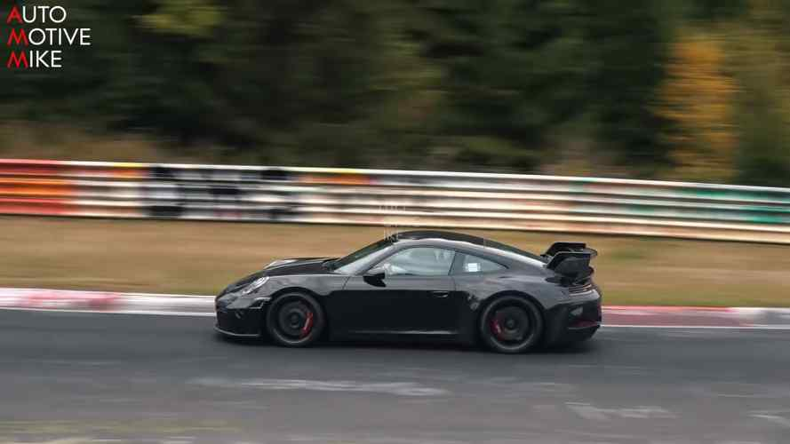 2020 Porsche 911 GT3 spied going full attack at the Nürburgring
