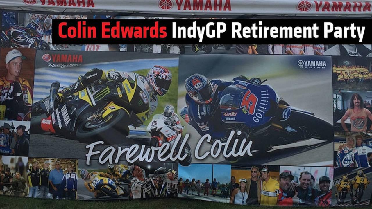 Colin Edwards IndyGP Retirement Party