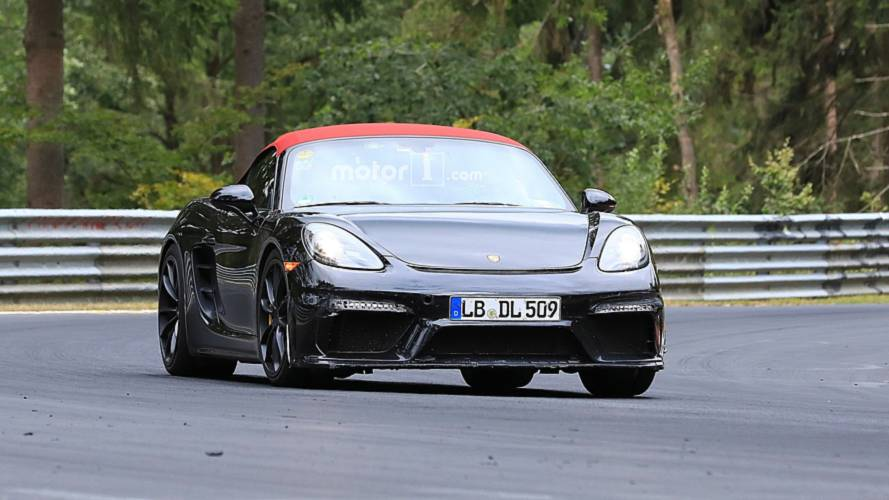 2019 Porsche 718 Boxster Spyder new spy photos