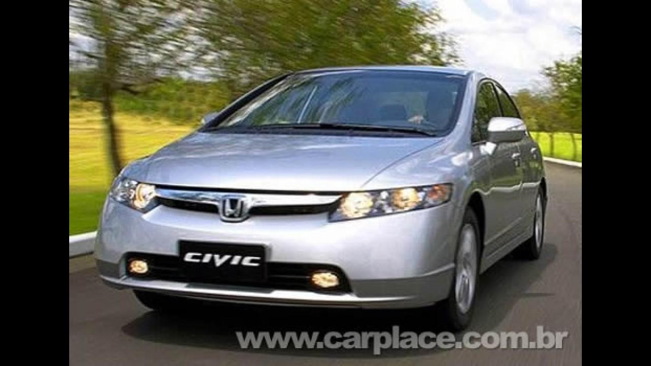 Veja lista dos carros mais vendidos em novembro 2008 - Civic ocupa 4° lugar