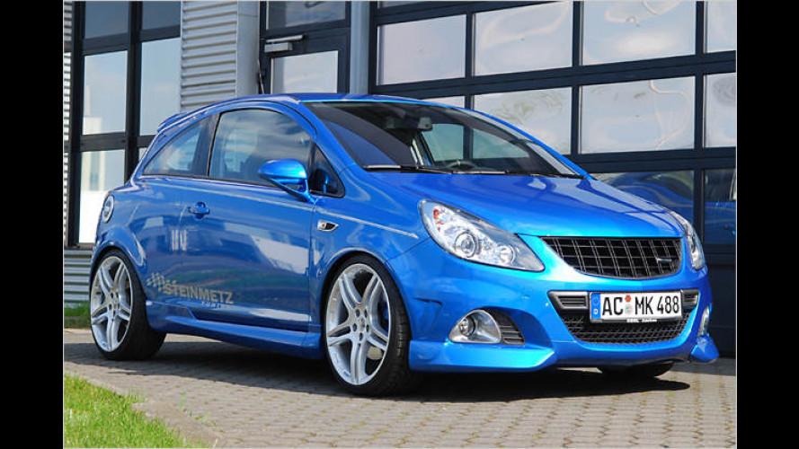 Opel Corsa OPC by Steinmetz: Blauer Bolide mit viel Power