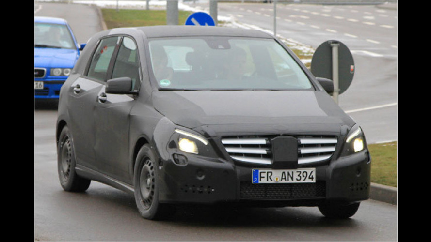 Erwischt: Mercedes bringt den B in Form