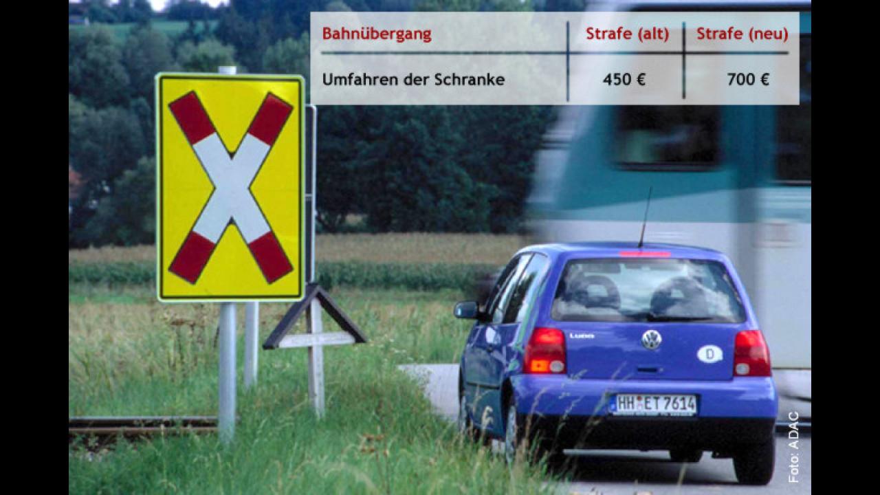 Sehr gefährlich: Das Umfahren der Bahnschranke