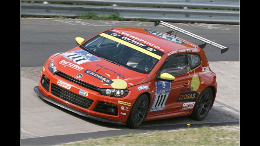 VW Scirocco CNG: Klassensieg beim 24-Stunden-Rennen