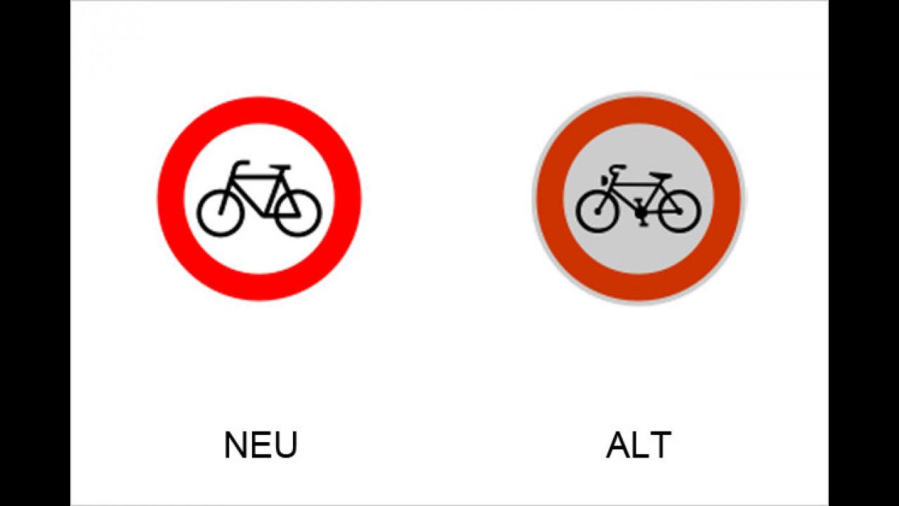 Verbot für Radfahrer