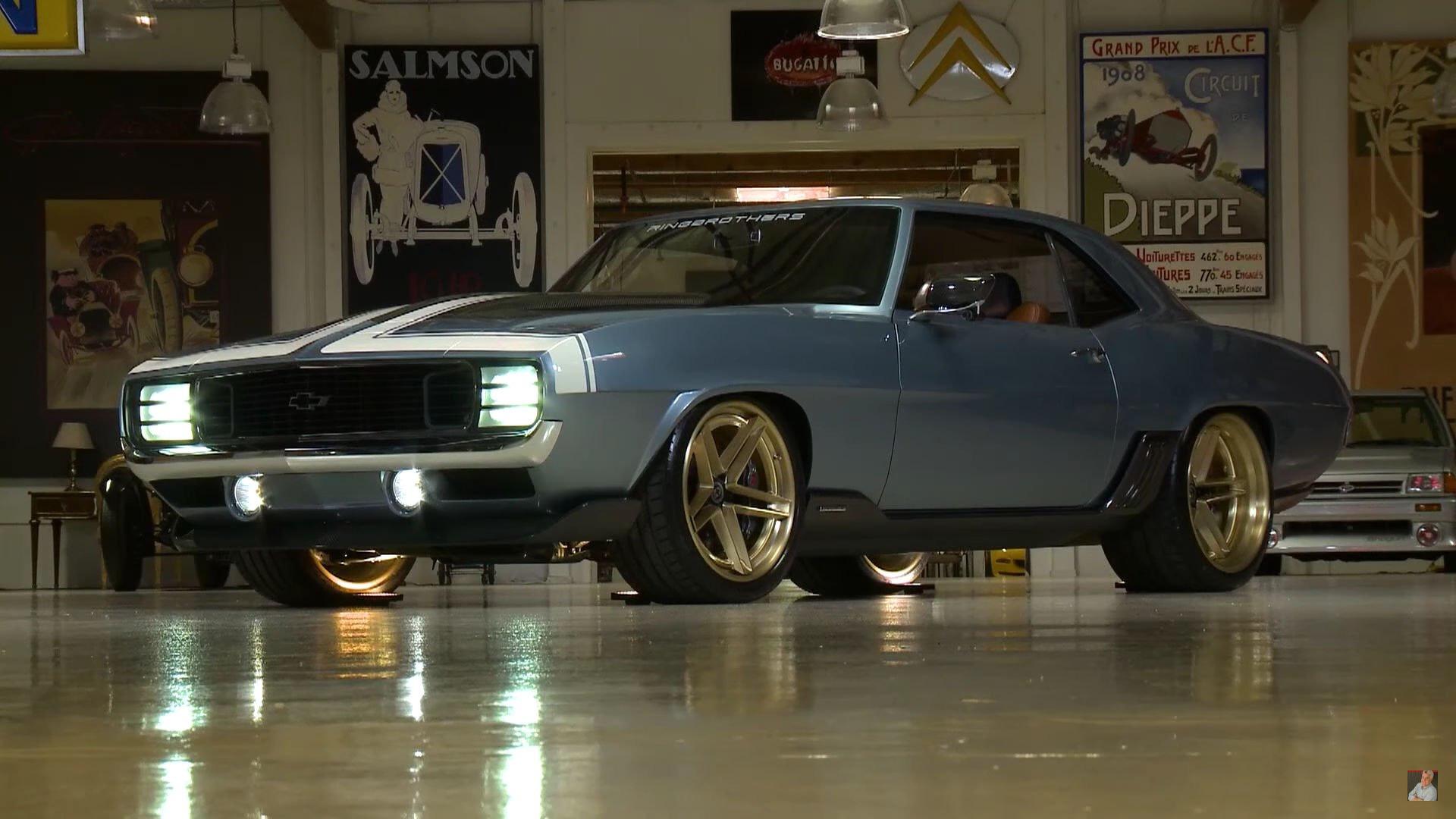 ringbrothers 1969 chevy camaro g code hits the spot for jay leno