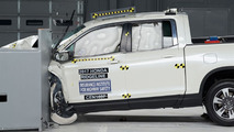 Honda Ridgeline during IIHS crash test