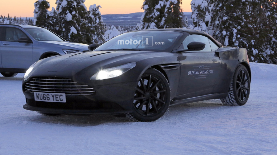 2018 Aston Martin DB11 Volante spy photos