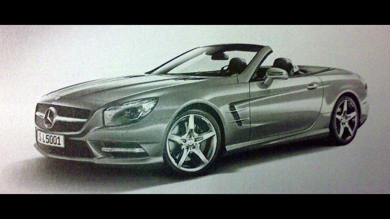 Nuova Mercedes SL. Prime foto