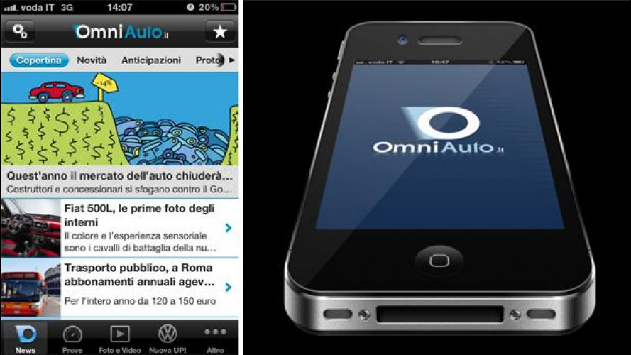 App OmniAuto.it: su iTunes la versione 1.2