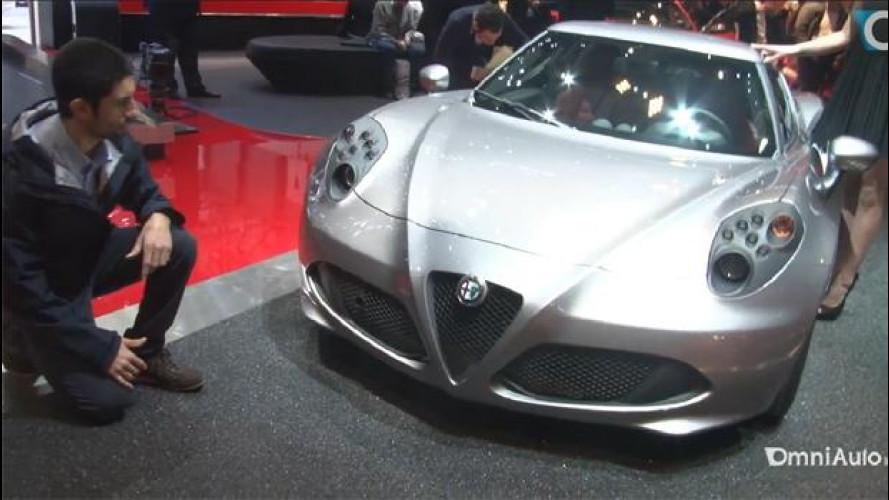 Salone di Ginevra: l'Alfa Romeo 4C vista sullo stand