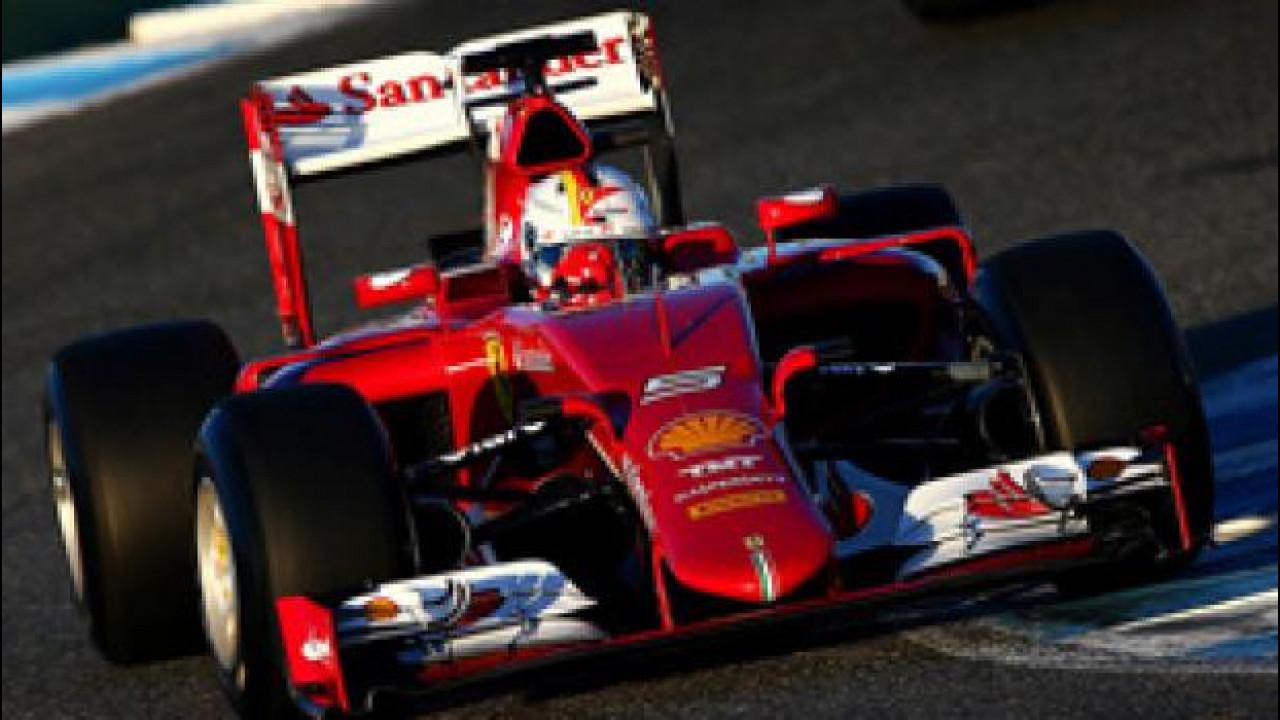 [Copertina] - La Ferrari SF15-T in testa a Jerez