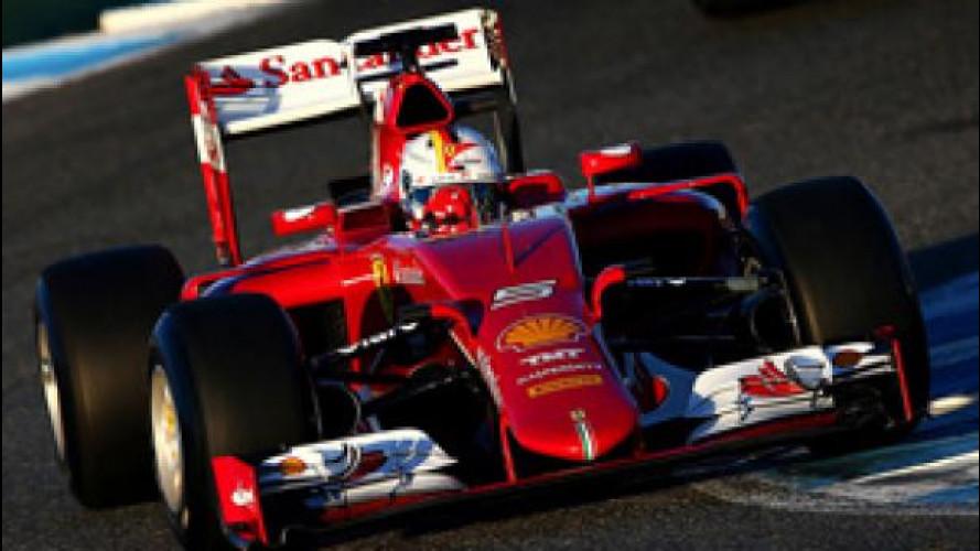 La Ferrari SF15-T in testa a Jerez