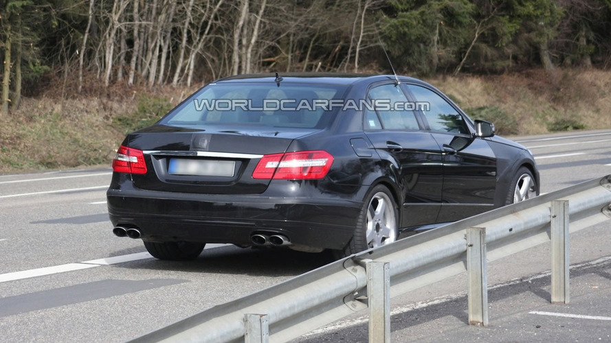 2010 Mercedes E63 AMG Sedan Spied with Exposed Rear End