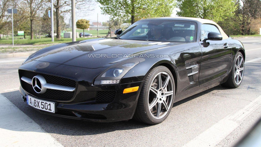 2012 Mercedes-Benz SLS AMG Roadster spied undisguised