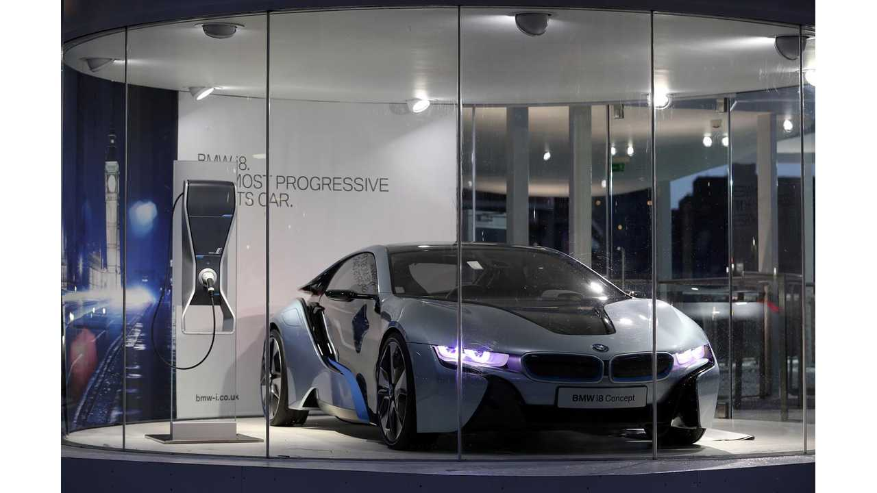 The BMW i8 On Display At the 2012 London Olympic Pavilion