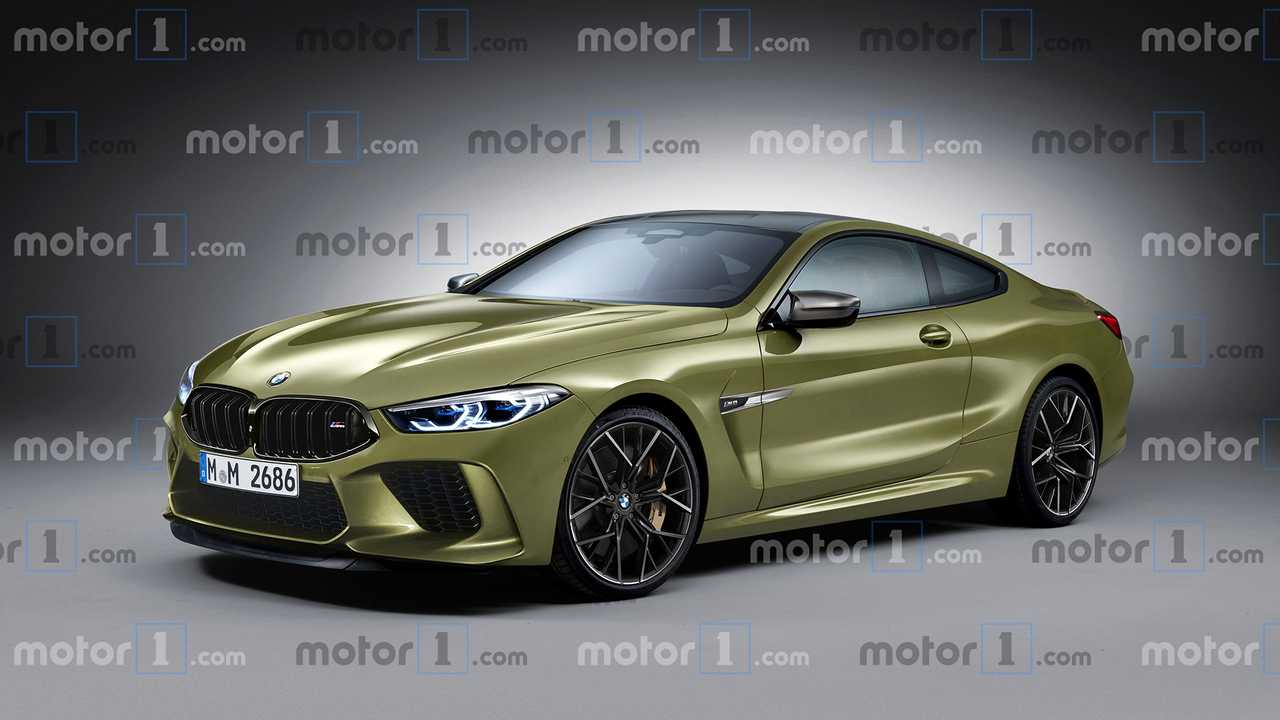 BMW M8, il rendering