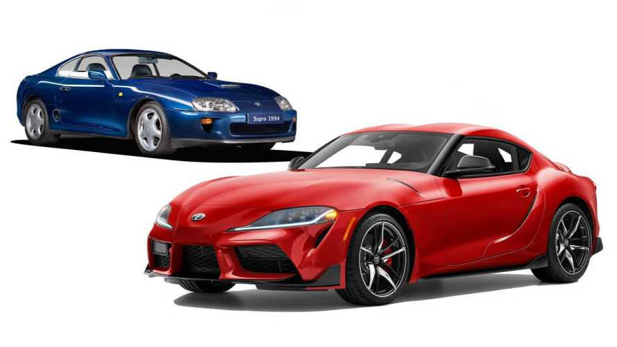 See the 2020 Toyota Supra and previous generation side by side