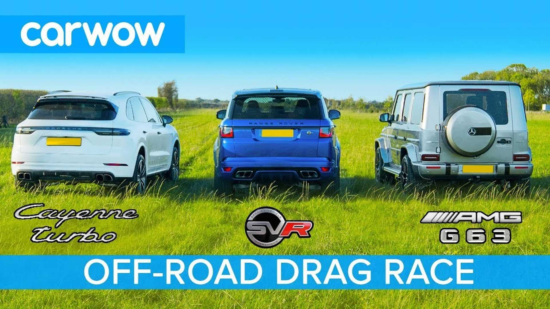 G63 Vs Cayenne Turbo Off Road Drag Race Is A Photo Finish