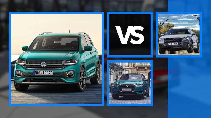 Sfida tra Volkswagen T-Cross, DS3 Crossback e Audi Q2