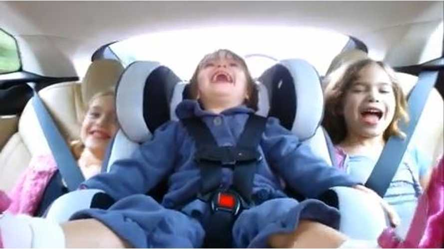 Video: Tesla Model S is Like a Rollercoaster Ride for the Kiddos