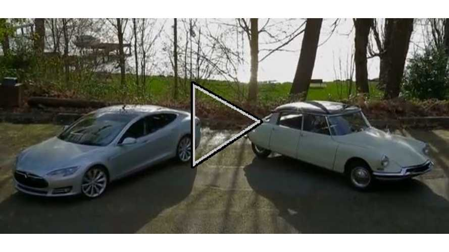 Video: Motor Trend Pits Tesla Model S Against Bizarre Challenger...The 1956 Citroen DS-19