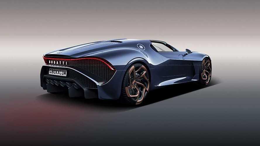 Bugatti La Voiture Noire Roadster rendering