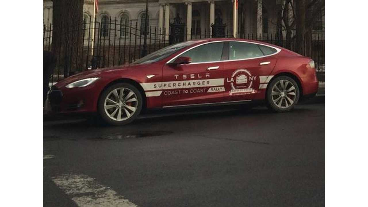 Tesla Model S Cross Country Rally - By The Numbers