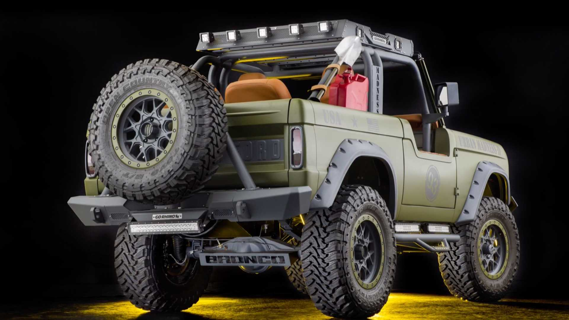 """[""""1969 Ford Bronco SEMA Build Up For Grabs""""]"""
