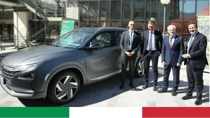 Hyundai Nexo, a Bolzano la prima in Italia