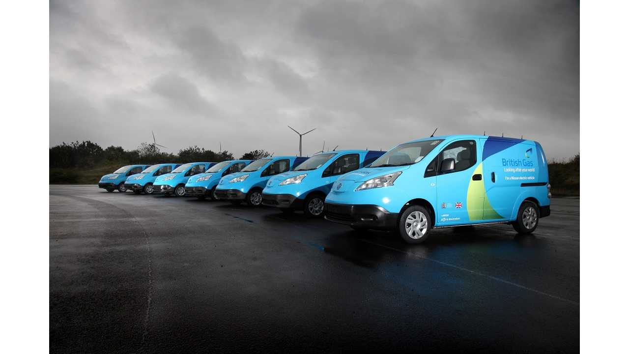 Nissan Ships 28 e-NV200 Electric Vans To British Gas - Largest Commercial Trial To Date (video)