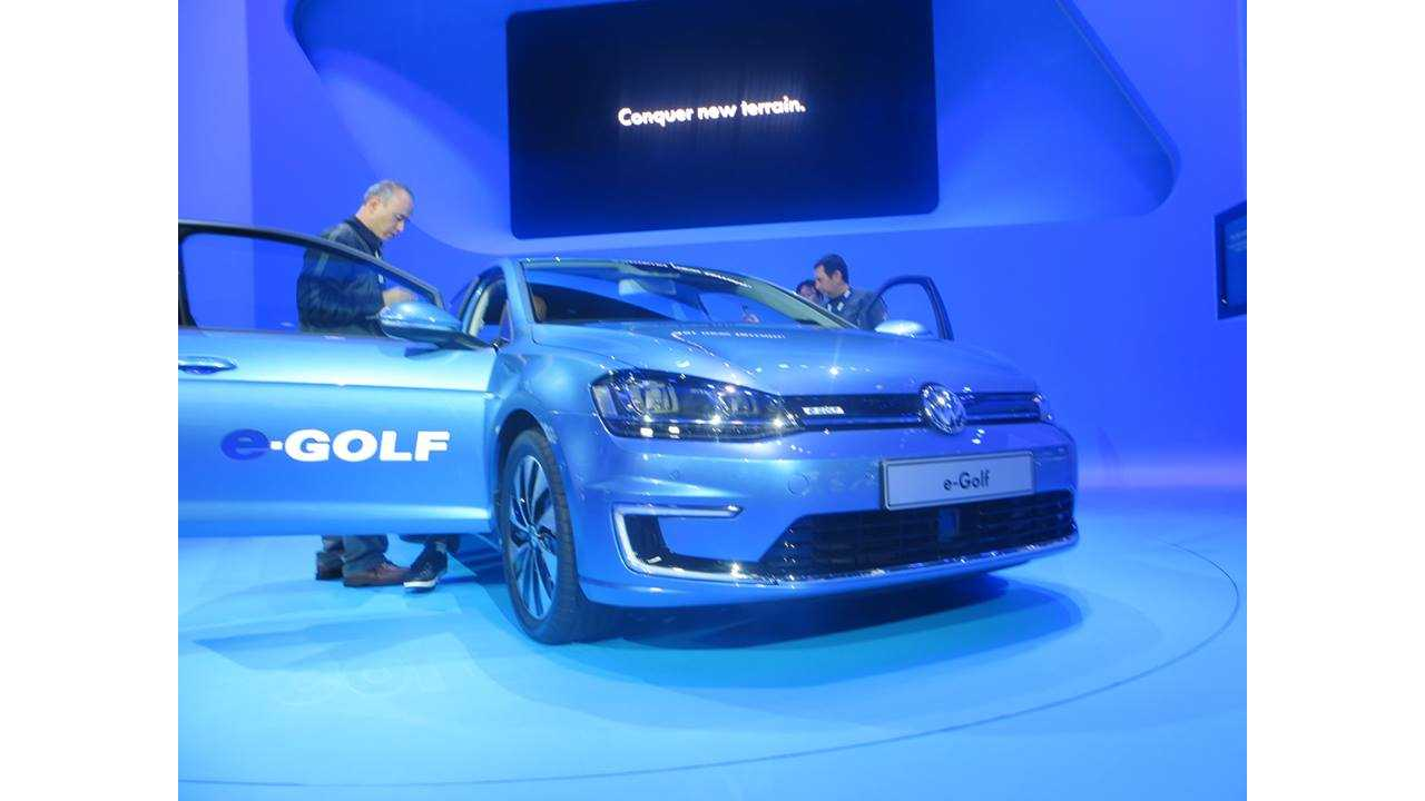 VW e-Golf Makes US Debut At Los Angeles Auto Show