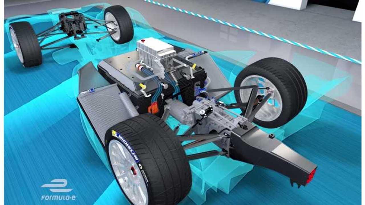 formula e racer regenerative braking