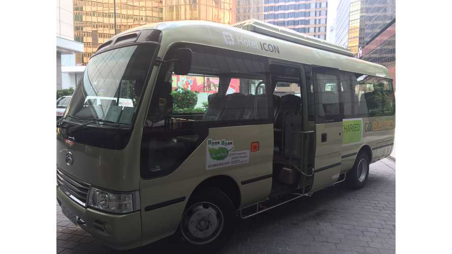 First Hong Kong Hotel Electrifies Their Shuttle Fleet To Help The Environment