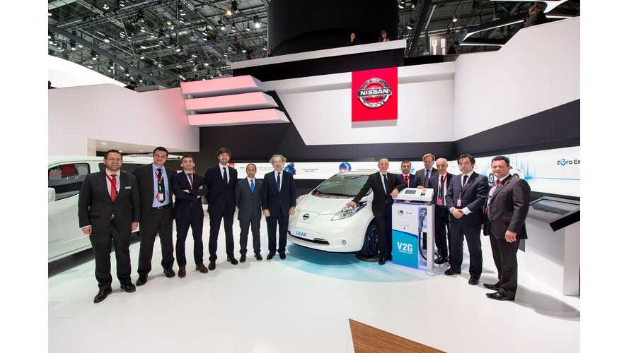 Nissan And Endesa To Promote Europe's First Mass Market Vehicle-To-Grid System