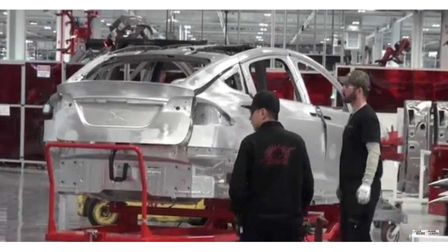 Tesla Model X Sightings Galore During Tesla Factory Tour - Video
