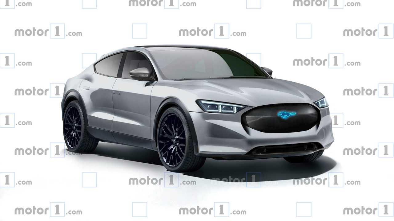 Mustang Based Electric Crossover Rendering