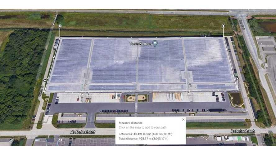 Tesla's Tilburg Site Has Massive Solar Roof