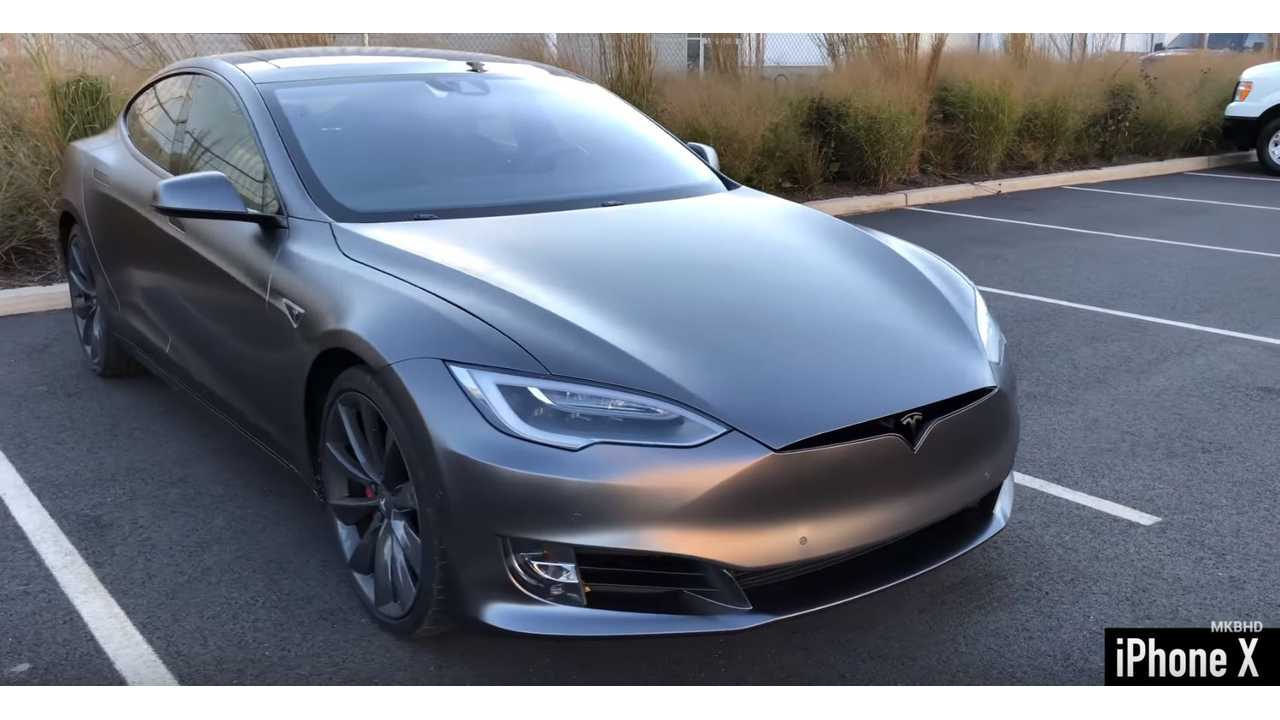 MKBHD Reveals His Newly Wrapped Tesla Model S - Video