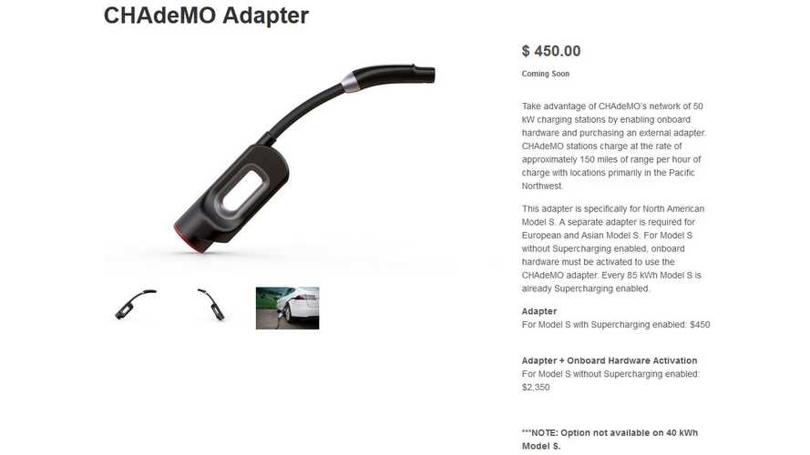 Tesla Model S CHAdeMO Adapter Now Only $450 - Was $1,000